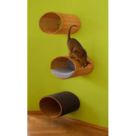 Supports pour chat en osier RONDO STAND pet.interiors