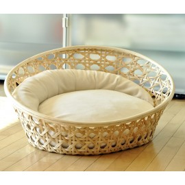 Corbeille osier avec coussin ARENA Wicker