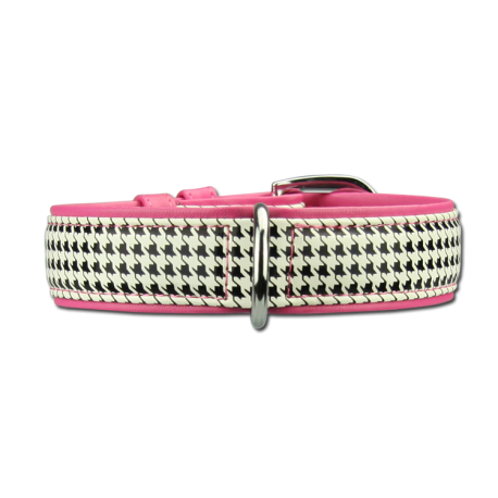 Collier cuir Artleather Coco's Choice White/Pink