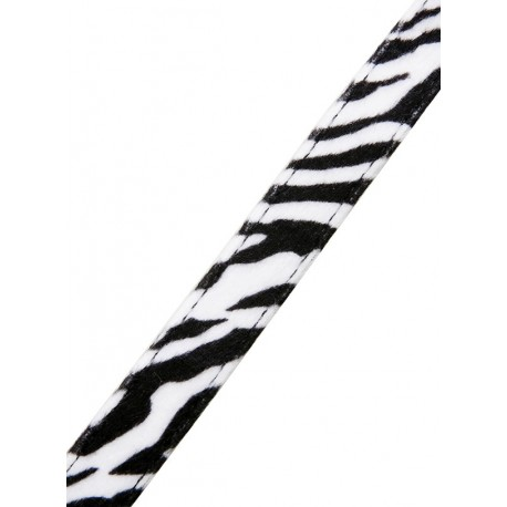 Collier Urban Pup Zebra Print Fabric