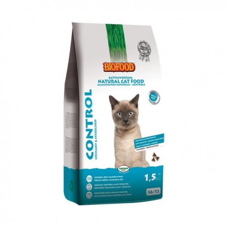 Croquettes chat 100% naturelles Biofood Adult Control