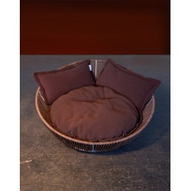 Corbeille avec coussin SIRO SALEEN® BROWN