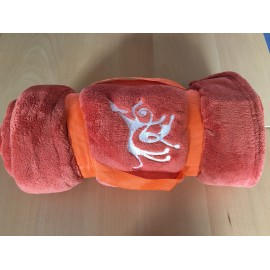 Couverture fleece orange 100 x 150cm