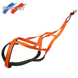 harnais canicross X-BACK orange fluo DIFAC