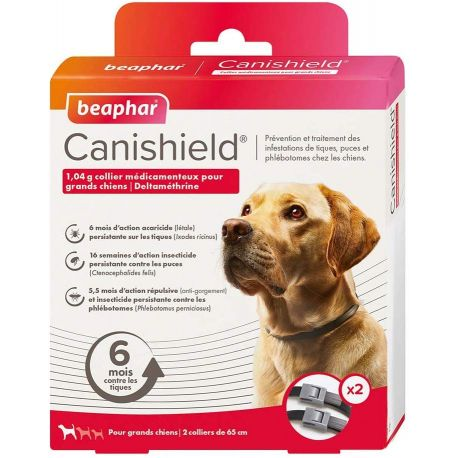 Collier canishield antiparasitaire pour grands chiens