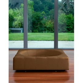 Couchage luxe en simili cuir CUBE Pet-Interiors