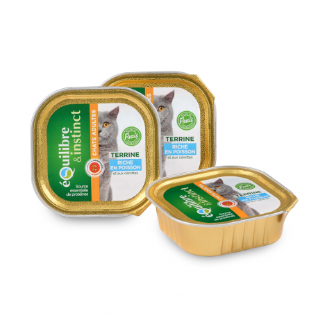 Terrine de poisson pour chat adulte - Disponible chez Animalerie.Store