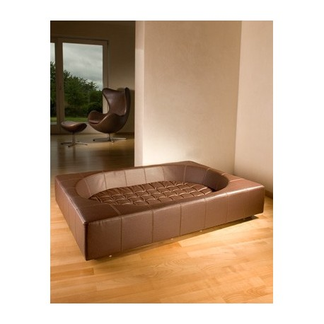 Couchage luxe simili cuir CUBE Pet-Interiors