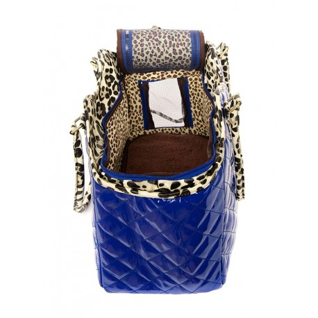 Sac de transport PATENT BLUE PET CARRIER
