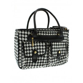 Sac de transport HOUNDSTOOTH PET CARRIER