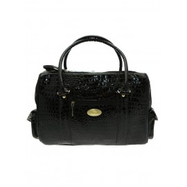 Sac de transport BLACK SNAKESKIN PET CARRIER