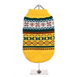 Pull tricoté YELLOW FAIR ISLE VINTAGE SWEATER