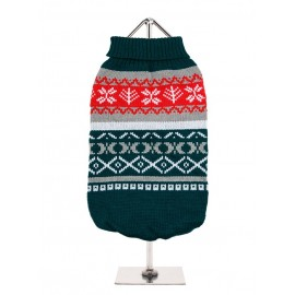 Pull tricoté GREEN FAIR ISLE VINTAGE SWEATER