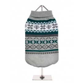 Pull tricoté GREY FAIR ISLE VINTAGE SWEATER