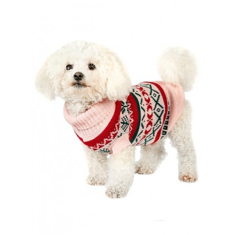 Pull tricoté OYSTER PINK FAIR ISLE VINTAGE SWEATER